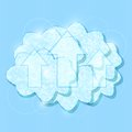 White Shiny Cloud Group with Upload Arrows Royalty Free Stock Photography