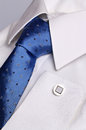 White shirt for cufflink Royalty Free Stock Images