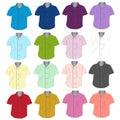 White Short sleeves shirt font .Vector illustration. Royalty Free Stock Photo