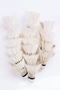 White shuttlecock on background Royalty Free Stock Images