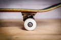 White skateboard wheels and trucks Royalty Free Stock Photo