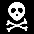 White skull crossbones black background vector Royalty Free Stock Image
