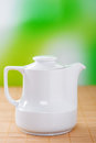 White small jug of milk Stock Image