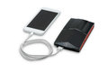 White smart phone charger with power bank battery bank on background clipping path Stock Photos