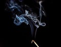 White smoke on a black background Royalty Free Stock Photo