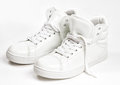 White sneakers Royalty Free Stock Photo