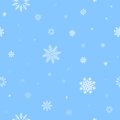 White snow pattern and light blue background patern for texture on a winter theme Stock Photo