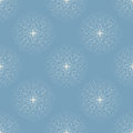 White snowflakes on blue background Stock Image