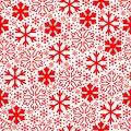 White snowflakes on red background. Christmas vector pattern. Christmas Royalty Free Stock Photo