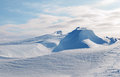 White snowy mountains in winter Stock Photography