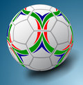 White soccer ball blue background illustration made mash Royalty Free Stock Images