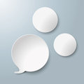 White speech bubble two circles with on the grey background eps file Royalty Free Stock Images