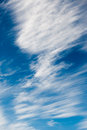 White spindrift clouds in the sky dynamic Royalty Free Stock Photo