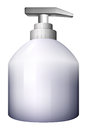 A white spray bottle illustration of on background Stock Photo