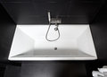 White square bathtub Stock Image