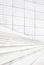 White stair steps and wall architecture background Royalty Free Stock Photos