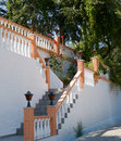 White stairs on kos greece chalked in and apricot Royalty Free Stock Images