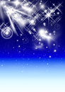 White star luminous falling in a winter Christmas Royalty Free Stock Photo