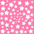 White stars on pink sky background baby dreams