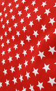 White stars on red cloth material Stock Image