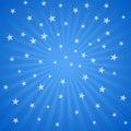 White stars and stripes