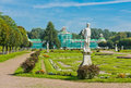 White statues in the park of kuskovo moscow russia Royalty Free Stock Photography