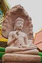 White stone carving buddha with naga 03