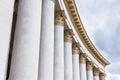 White stone columns Royalty Free Stock Photo