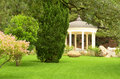White stone gazebo in the park Stock Photography