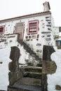 White stone house in Azores Royalty Free Stock Photo