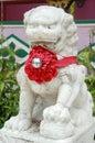 White stone lion Royalty Free Stock Photos