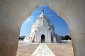 White stone pagoda Hsinbyume in Mandalay, Myanmar Royalty Free Stock Image