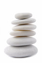 White stone pebble zen isolated on Royalty Free Stock Photography