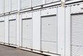 White storage unit Royalty Free Stock Photo
