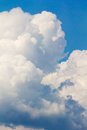 White stormy clouds Royalty Free Stock Photo