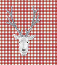 White stuffed deer head Royalty Free Stock Photos