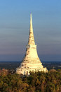 White stupa the on mountain ancent history Royalty Free Stock Images