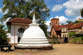 White Stupa at the Temple of the Lord Buddha Tooth Royalty Free Stock Photo
