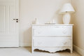 White and stylish commode