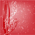 White swirled floral shapes on red background. Stock Images