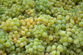 White table grapes pile of Stock Photos
