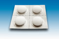 White tablets in blister pack,close up Royalty Free Stock Photo