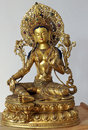 White Tara sculpture Royalty Free Stock Image
