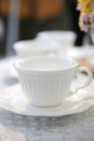 White teacup this is a close up vertical composition Stock Photos