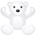 White teddy bear toy on a background Royalty Free Stock Photos