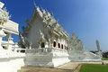 White temple in chiang rai is a contemporary unconventional buddhist thailand it was designed by chalermchai kositpipat Royalty Free Stock Photography