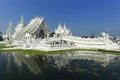 White temple in chiang rai is a contemporary unconventional buddhist thailand it was designed by chalermchai kositpipat Stock Photography