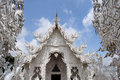 White temple in chiang rai thailand famous landmark of Royalty Free Stock Photography