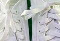 White tennis shoes Royalty Free Stock Photo