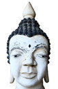 White thai buddha statue of head Stock Photo